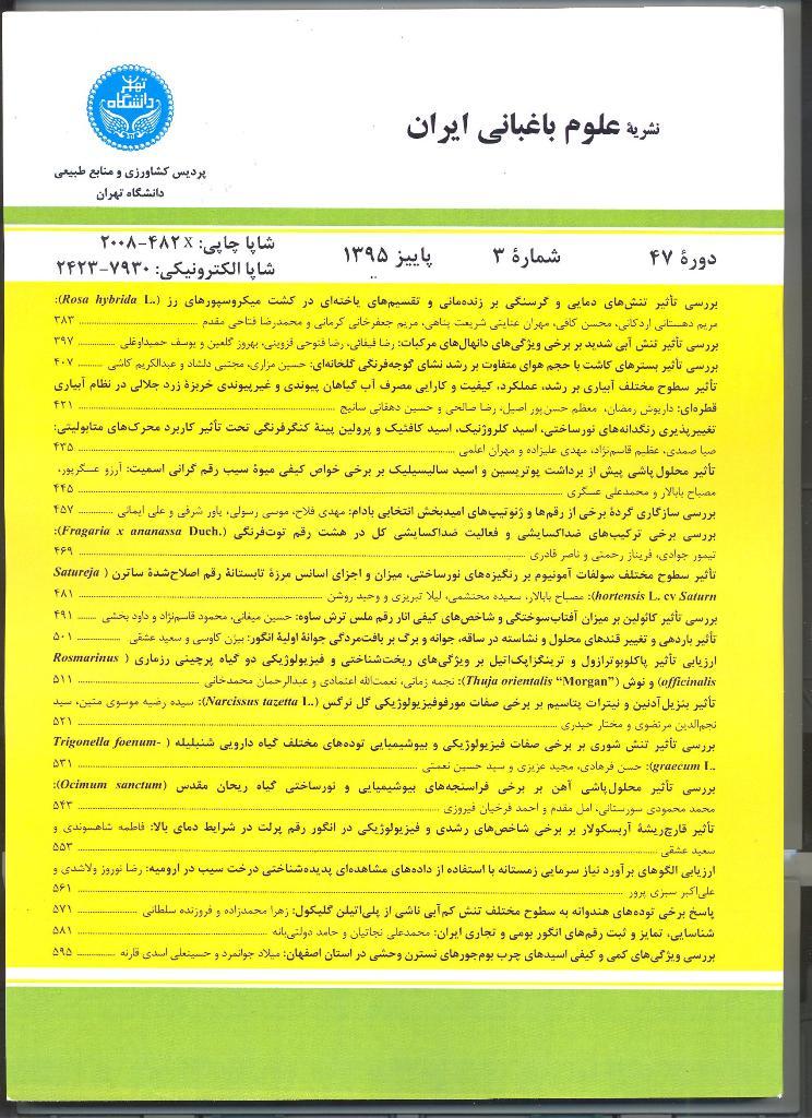 علوم باغبانی ایران
